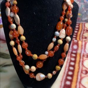 Peach red necklace
